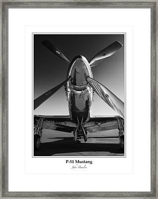 P-51 Mustang - Bordered Framed Print
