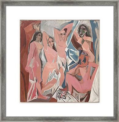 Pablo Picasso   Les Demoiselles D'avignon Framed Print