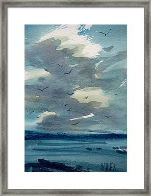 Pacific Seascape Framed Print by Donald Maier