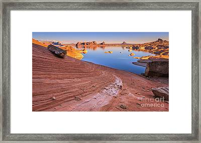 Padre Bay, Lake Powell Framed Print by Henk Meijer Photography