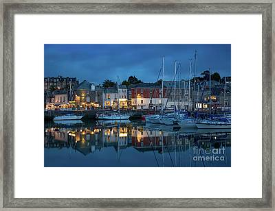 Framed Print featuring the photograph Padstow Evening by Brian Jannsen