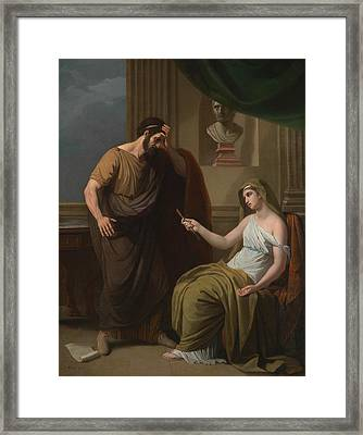 Paetus And Arria Framed Print by Benjamin West