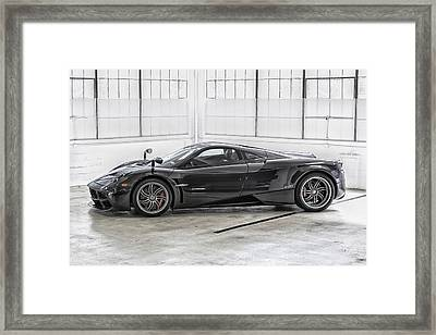 Framed Print featuring the photograph Pagani Huayra by ItzKirb Photography