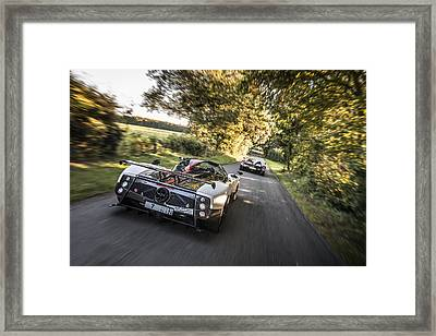 Pagani Road Trip Framed Print
