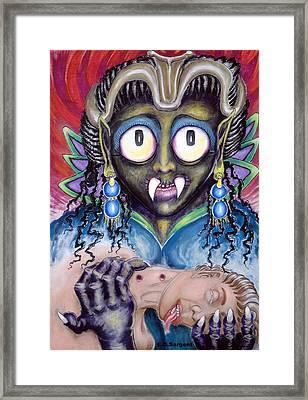 Pain N Neck Framed Print by Eddie Sargent
