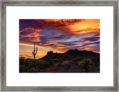 Paint The Sonoran Skies  Framed Print by Saija Lehtonen