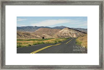 Painted Hills Fossil Beds Oregon State Usa North America Framed Print
