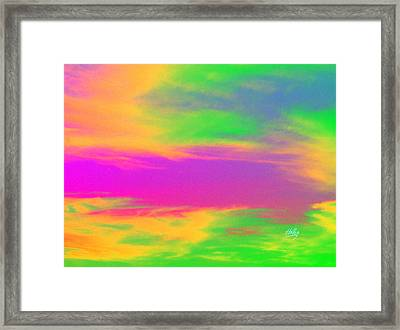 Painted Sky - Abstract Framed Print by Linda Hollis