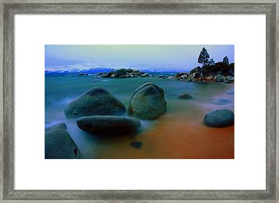 Painted Tahoe Framed Print by David Frissyn