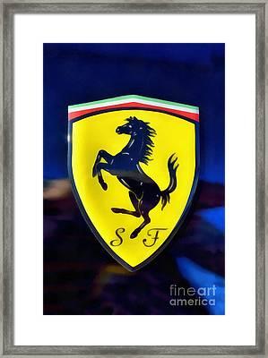 Painting Of Ferrari Badge Framed Print