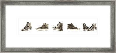 Pair Of New Sneakers Framed Print by Nikita Buida