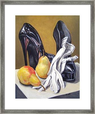 Framed Print featuring the painting Pairs by Laura Aceto