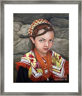 Pakistani Girl Framed Print by Enzie Shahmiri