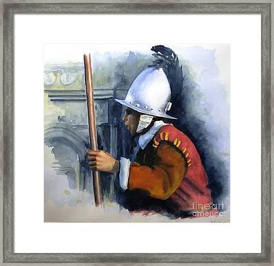 Palace Guard Framed Print