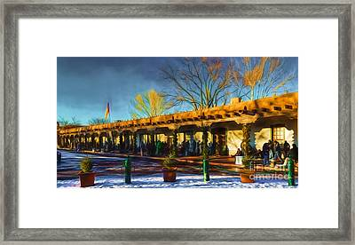 Palace Of The Governors Framed Print by Jon Burch Photography