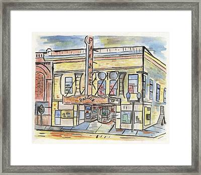 Palace Theater Framed Print by Matt Gaudian