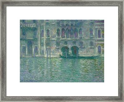 Palazzo Da Mula  Venice Framed Print by Claude Monet