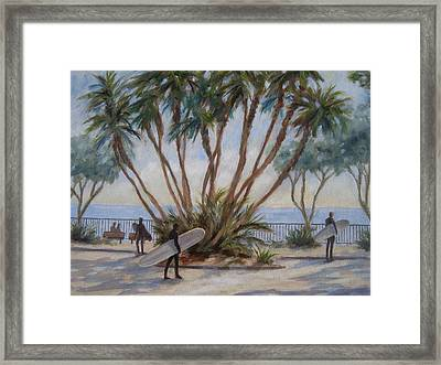 Palm By C Street Framed Print by Tina Obrien