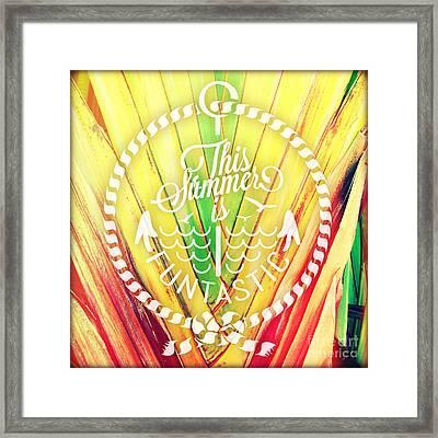 Palms Framed Print by Chris Andruskiewicz