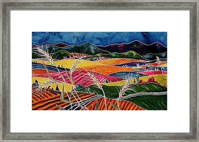 Palouse Fields Framed Print