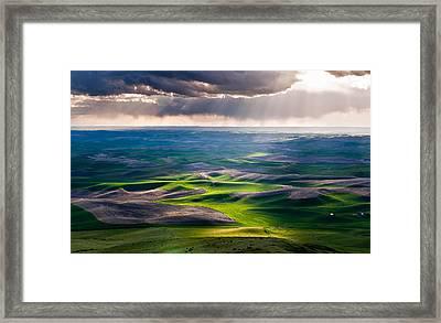Palouse Hills Framed Print