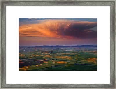 Palouse Storm Framed Print by Mike  Dawson