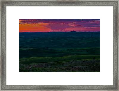 Palouse Sunset 3 Framed Print by Thomas Hall