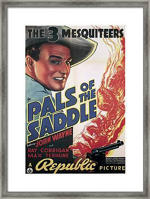 Pals Of The Saddle 1938 Framed Print by Republic
