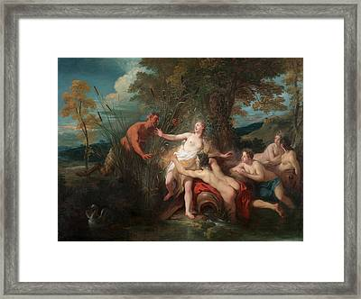 Pan And Syrinx Framed Print