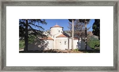 Panagia Kera Church In Kritsa, Lasithi Framed Print by Panoramic Images