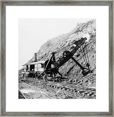 Panama Canal - Construction - C 1910 Framed Print by International  Images