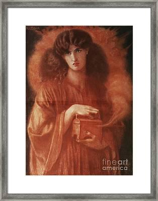 Pandora Framed Print by Dante Charles Gabriel Rossetti