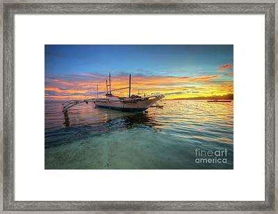 Panglao Island Sunrise Framed Print