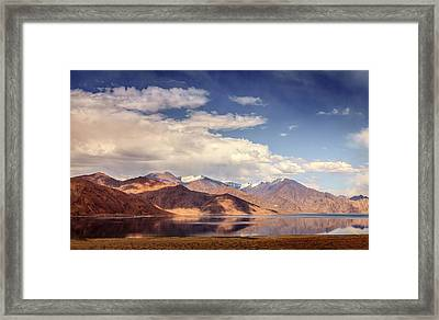 Framed Print featuring the photograph Pangong Tso Lake by Alexey Stiop