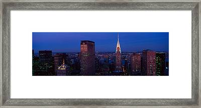Panoramic Aerial View Of Chrysler Framed Print