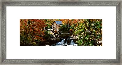 Panoramic Of Glade Creek Grist Mil Framed Print