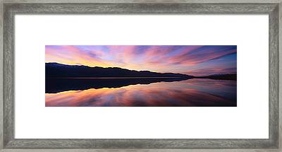 Panoramic View At Sunset Of Flooded Framed Print