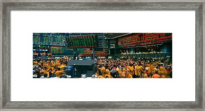 Panoramic View Of Chicago Mercantile Framed Print by Panoramic Images