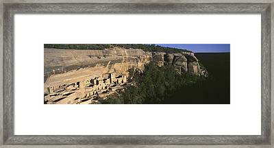 Panoramic View Of Cliff Palace Cliff Framed Print