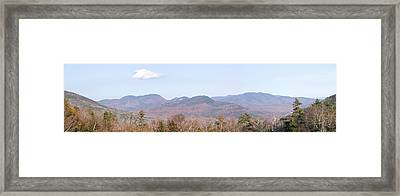 Panoramic View Of Crawford Notch State Framed Print