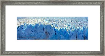Panoramic View Of Icy Formations Framed Print by Panoramic Images