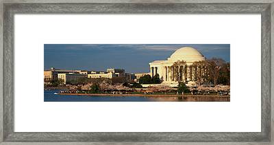 Panoramic View Of Jefferson Memorial Framed Print by Panoramic Images
