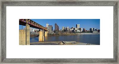 Panoramic View Of Memphis, Tn Skyline Framed Print by Panoramic Images