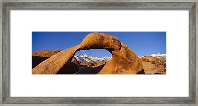 Panoramic View Of Mount Whitney Framed Framed Print by Panoramic Images