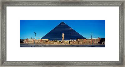 Panoramic View Of The Pyramid Sports Framed Print