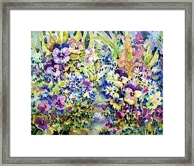 Pansy Path Framed Print