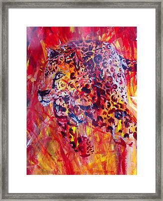 Panther Framed Print by Anne Weirich
