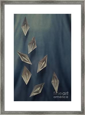 Paper Boats Framed Print