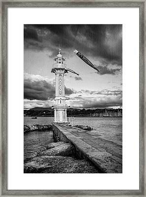 Paquis Lighthouse Geneva Switzerland  Framed Print