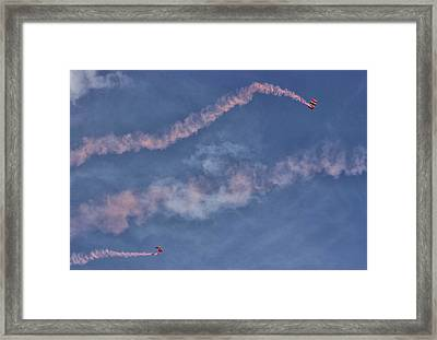 Parachuting In Framed Print